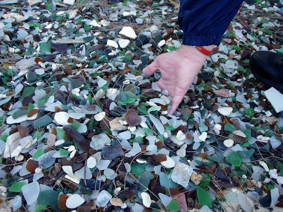 Sea Glass Beach. Kings Wharf Bermuda