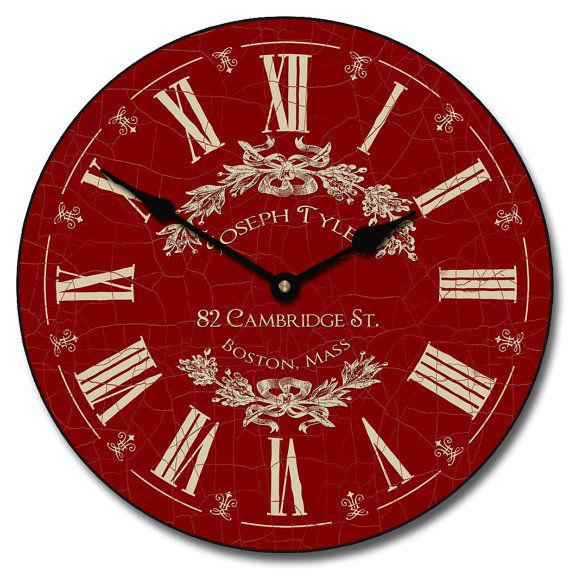 Charmant Red Wall Clock