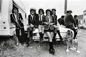 A John Miller photograph taken in the summer of 1976 of  band members at the annual Ratana Pa celebrations