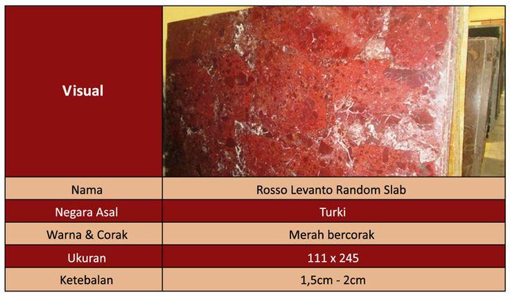Marmer Import Rosso Levanto Random Slab
