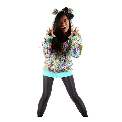 Iron Fist Over The Rainbow Hoody - Foksi Alternative clothing