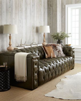 21 Best Images About I Want A Green Leather Couch On Pinterest