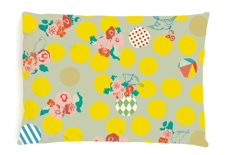 Birdy Cushion can be found at www.delamadele.com.au