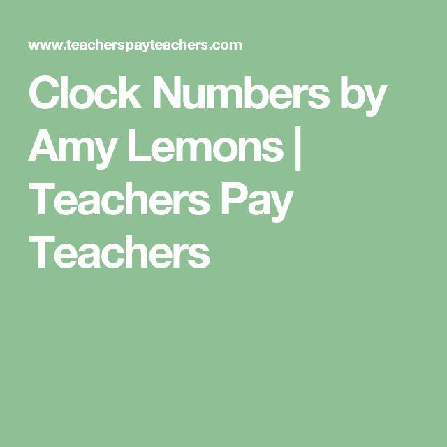 Clock Numbers by Amy Lemons | Teachers Pay Teachers