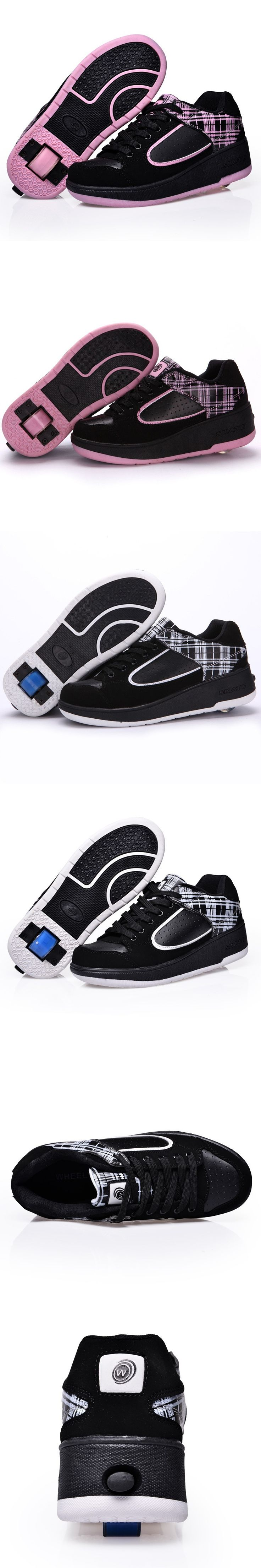 Child heelys Jazzy Junior girls boys heelys roller skate shoes for children kids sneakers with wheels EU size 29-37