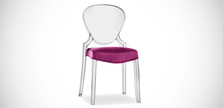 Design Polycarbonat Stuhl Queen von Pedrali: Designerstühle