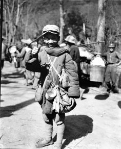 Portrait of a Chinese soldier, 13-year-old Li Zhanhong, who had already attached himself to a Chinese regiment by the age of ten and seen nearly three years of intermittent combat against Imperial Japanese forces. Near Kunming, Yunnan, Republic of China. 23 November 1944. Chinese history