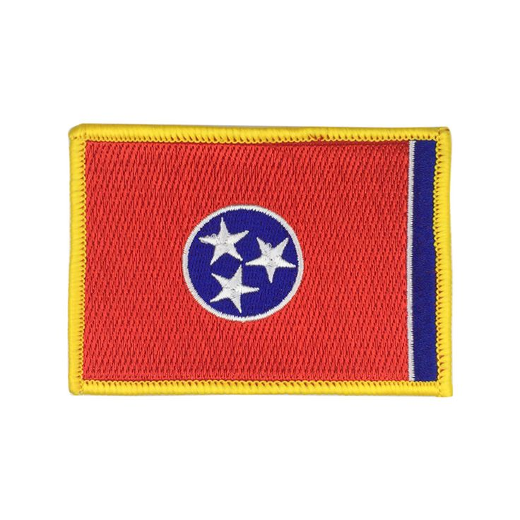 State of Tennessee Flag Patch US Embroidered Patch Gold Border Iron On patch Sew on Patch badge Patch meet you on www.Fleckenworld.com