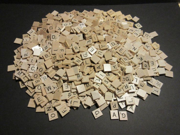1000 Scrabble Tiles Crafts Scrapbooking Wedding Wooden Projects