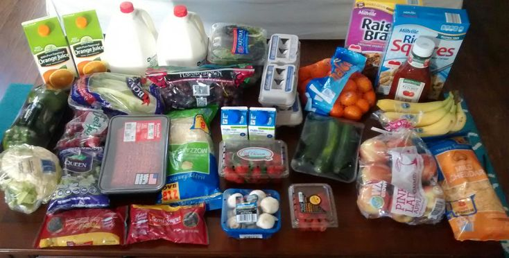 Check out this $78 grocery shopping trip and weekly menu plan for 6!