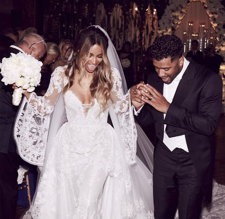 Ciara married Russell Wilson on Wednesday at Peckforton Castle in Cheshire, England. The bride wore a RobertoCavalli Couture long-sleeve gown made of tulle and Chantilly lace appliqué. The groom donned a Giorgio Armani tuxedo for the evening vows. More than 100 guests, including Jennifer Hudson, were in attendance. Kelly Rowland and LaLa Anthony were in …