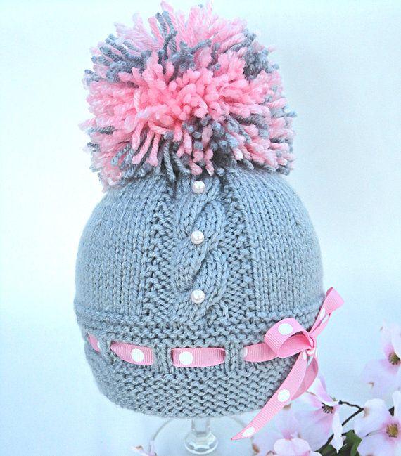 Knitting Pattern Baby Hat Baby Beanie Knit Pattern by Solnishko43