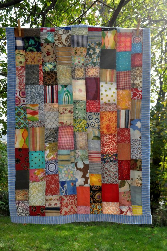 ♥cool patchwork♥  Call Me Crazy, but My Favorites are Still the Old Patchwork Quilts & the Colourful CRAZY Quilts.  But I Really Like This Patchwork...It's the Bomb.