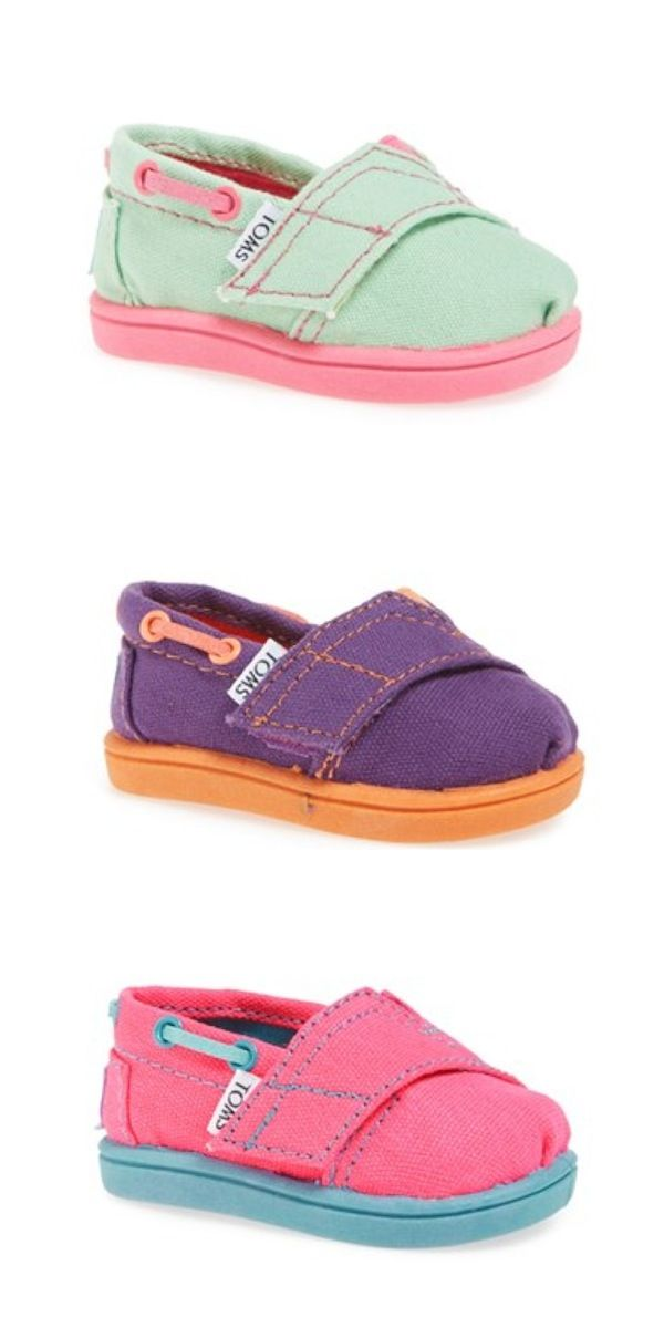 Darling TOMS for Babies!!  @Nordstrom http://rstyle.me/n/jmkahnyg6  Maggie needs the Clemson colored ones!!!!