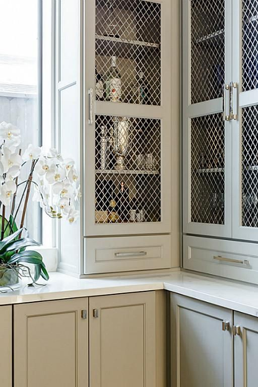 Loving the metal wire on cabinet doors for prep kitchen pantry Best 25  Glass ideas Pinterest