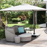 Found it at Wayfair.co.uk - Nicosia Cantilever Parasol with Base Wheel