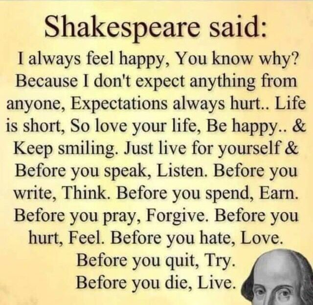 shakespeare ohydrates ""