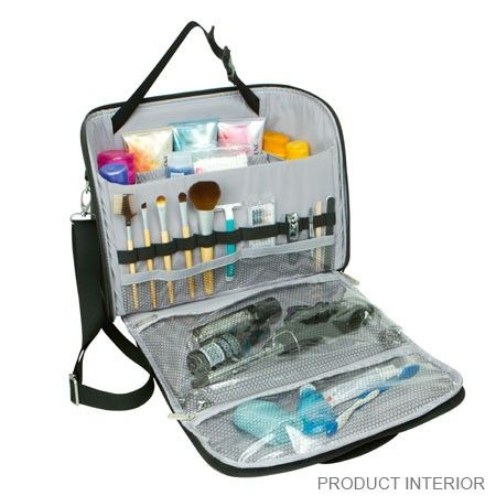recently purchased:  the BEST toiletry bag.  Travelon Mini Independence Bag  - www.travelonbags.com