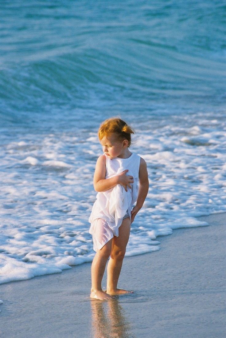 My Niece - And the Blue waters of The Indian Ocean