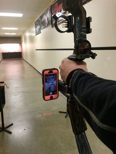 Use your smartphone / cell phone camera to capture your hunt on video camera, hands free. Video record your own bow #hunting while staying ready for the shot. Bow stabilizer mounted cell phone video ca