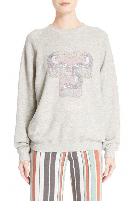 Chloe+Women's+Pelican+Print+Sweatshirt+|+Activewear,+Pullovers,+Sweater+and+Clothing