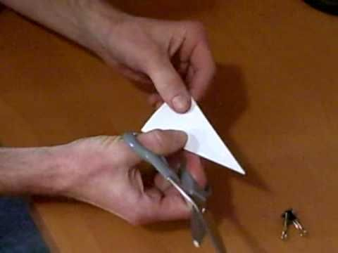 How to cut a paper snowflake - YouTube