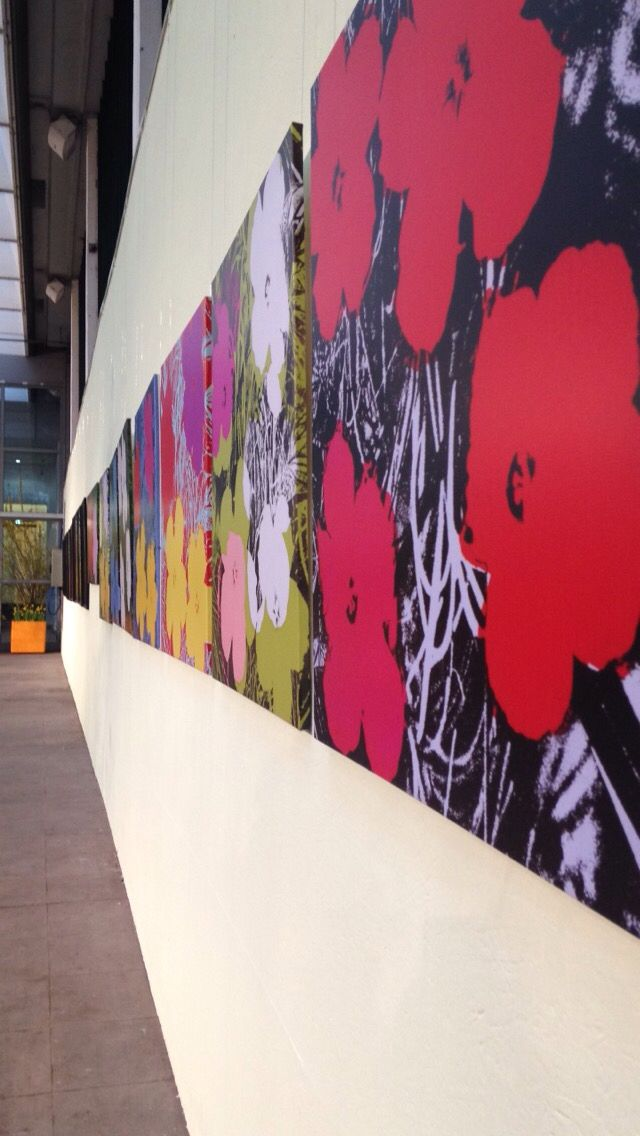 Andy Warhol flower exhibit