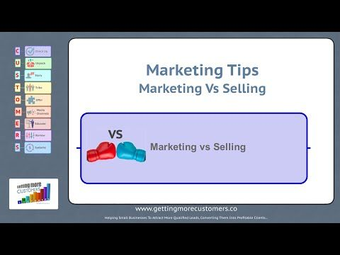 Small Business Marketing Tips  Marketing Vs Selling Marketing Checklist