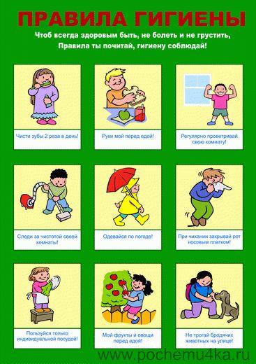 """Плакат """"Гигиена"""" - Всё для детского сада - Методический кабинет - Обучение и развитие - ПочемуЧка - Сайт для детей и их родителей"""