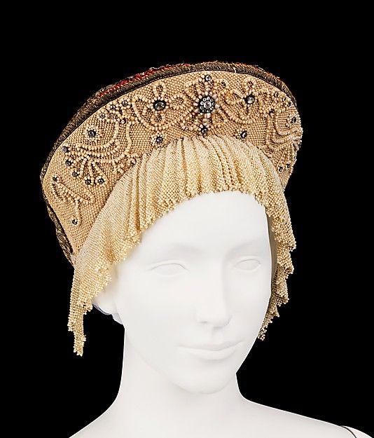 Headdress. 1790–1810, Russian