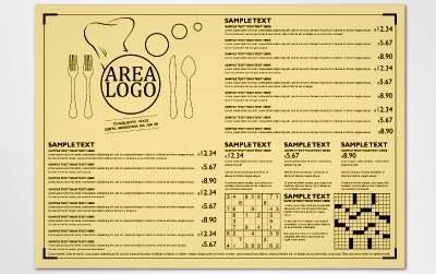 TOVAGLIETTE Stampa su Tovagliette in Carta Woodstock color nocciola.Prodotto indispensabile per bar, ristoranti e self service. Le tovagliette possono essere personalizzate con il vostro logo, potete inserire il vostro menù, ricordare ai clienti le serate a tema, inserire degli sponsor e per intrattenere gli ospiti.