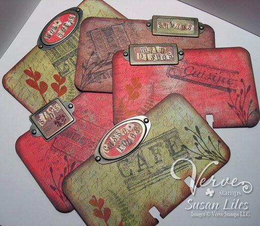 Recipe Rolodex--File Tab Divider Cards by susiestampalot - Cards and Paper Crafts at Splitcoaststampers