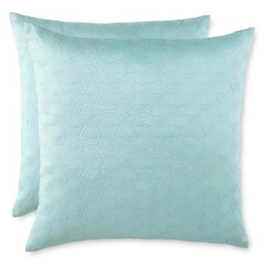Hexagon Set of 2 Decorative Pillows - JCPenney seafoam home decor Pinterest Hexagons, Set ...