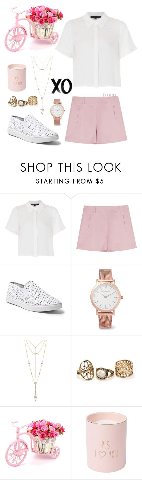 """""""Untitled #214"""" by jessxme ❤ liked on Polyvore featuring French Connection, Steve Madden, Larsson & Jennings, House of Harlow 1960 and xO Design"""