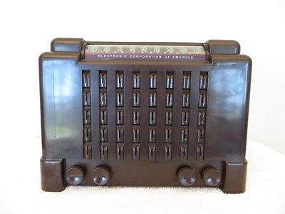 Vintage 1940s estilo modernista de mediados de siglo radio De Trabajo De Baquelita Antiguo Viejo