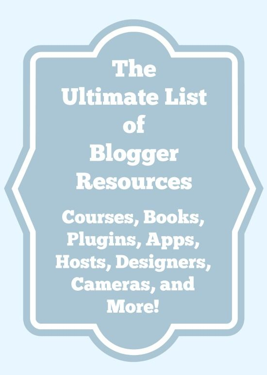 2014 Blogger Resources