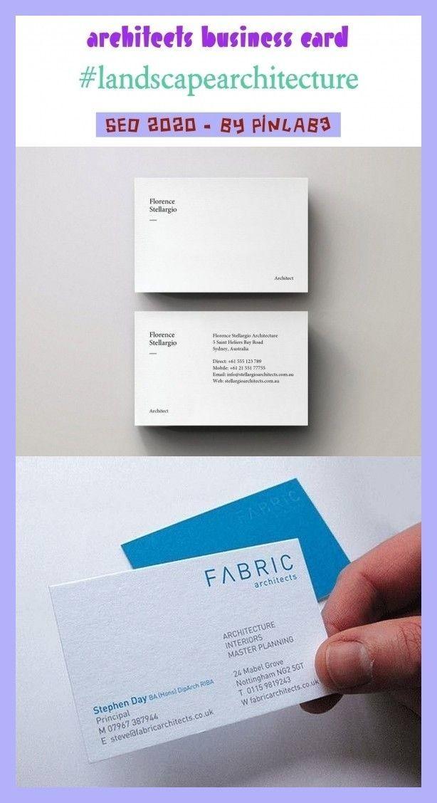Architects Business Card Architects Business Architekten