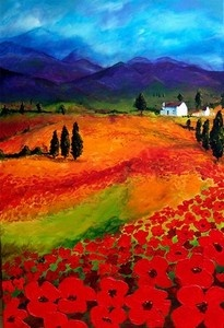 Colorful Landscape by Maxine Potgieter - acrylic