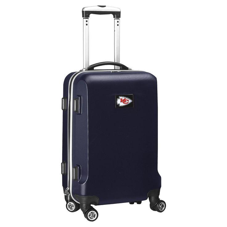 NFL Kansas City Chiefs Mojo Carry-On Hardcase Spinner Luggage - Navy