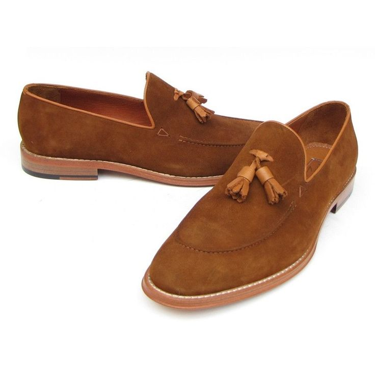 Paul Parkman Men's Tassel Loafer Suede Shoes (ID#087-TAB)
