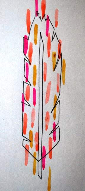 Feather illustration by Polly Rowan