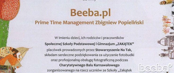 beeba.pl w Akademii Ludzi Pozytywnych :)