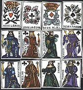 Playing Cards ( up to 1500CE) Medieval gambling cards, from the year 1377.
