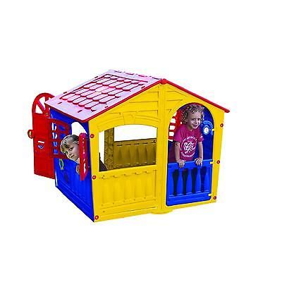 Kids Playhouse Outdoor Indoor Yellow Toddler Play Backyard House Play Cottage