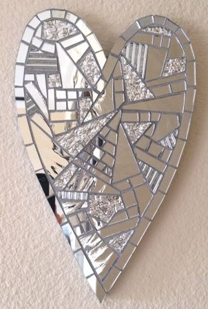 .Glass mosaic heart