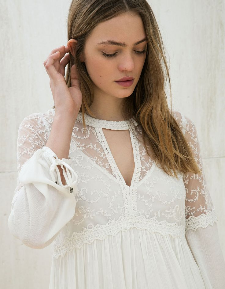 lace chiffon baby doll dress