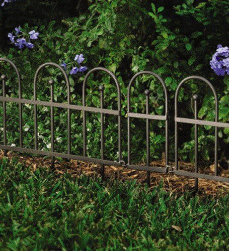 Flower Bed Fencing : inexpensive garden fence  Garden or Flower Bed Iron Fence Edging ...