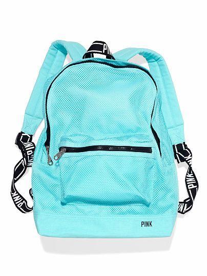 VS PINK Classic Mesh Backpack in Mermaid Teal