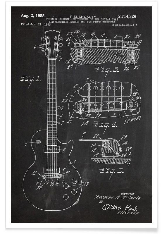 Guitar als Premium Poster von Stanley Print House | JUNIQE