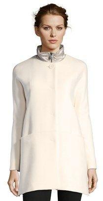 Cinzia Rocca Wool Short Coat With Nylon Insert.